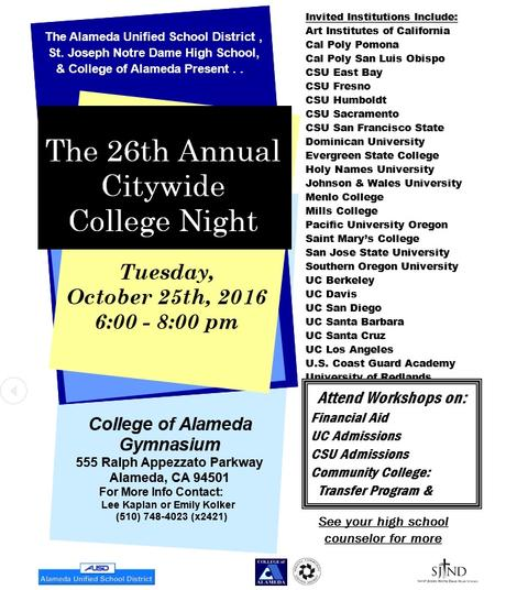 College Night--Oct. 25