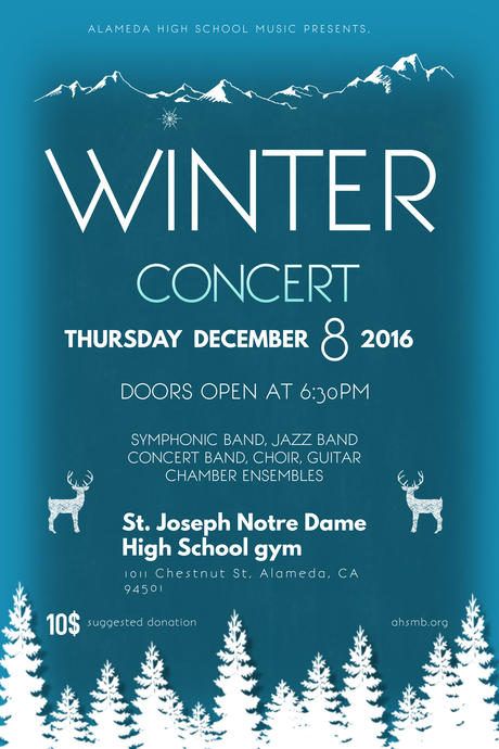 Winter Concert--Dec. 8!